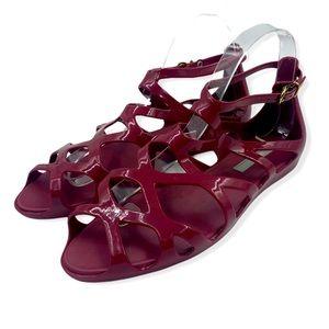 Melissa maroon jelly sandals